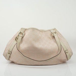 Auth Gucci Pink Canvas Bag #1067G56